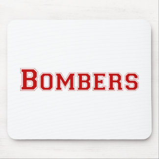 Bombers square logo in red mousepads