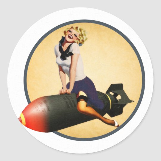 Bombs Away Classic Round Sticker