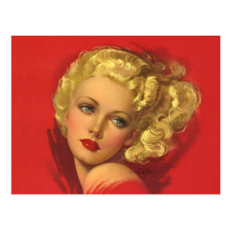 BOMBSHELL BAD GIRLS Retro Pin-Ups Postcard