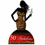 Bombshell Leopard Birthday Cake Topper red Acrylic Cut Outs