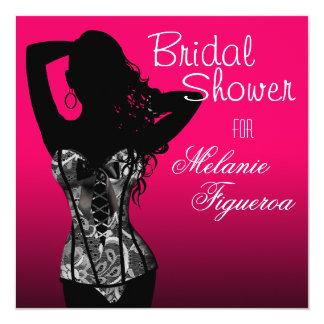 Bombshell Lingerie Lace Corset Bridal Shower Card