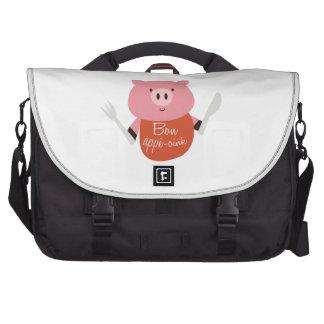 Bon Appe-Oink Laptop Shoulder Bag