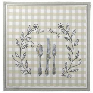 Bon Appetit (2) Cloth Napkins