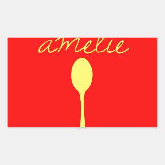 Bon appetit, Amelie Rectangular Sticker