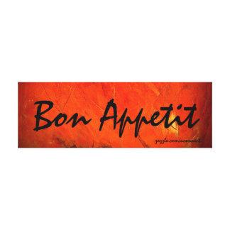 Bon Appetit Art Painting Canvas Prints