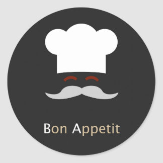 Bon Appetit Chef Round Sticker