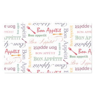 Bon Appetit Classic Pattern Pack Of Standard Business Cards