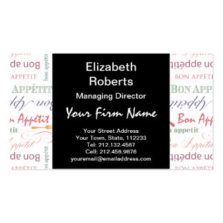Bon Appetit Classic Pattern Double-Sided Standard Business Cards (Pack Of 100)