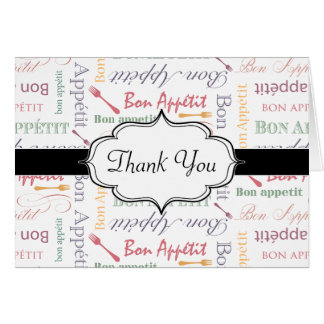 Bon Appetit Classic Pattern Greeting Card