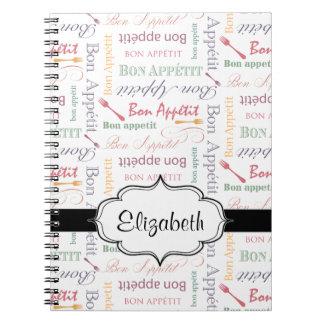 Bon Appetit Classic Pattern Spiral Note Books