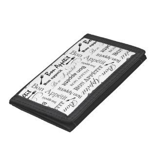 Bon Appetit Classic Pattern Tri-fold Wallet