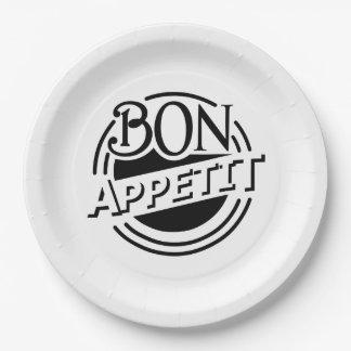 Bon Appetit design Paper Plate