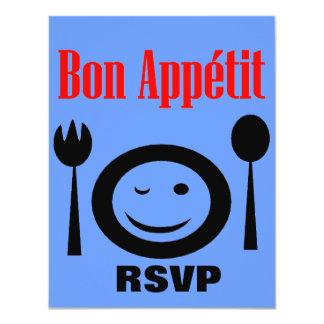 Bon Appetit Dinner Party Custom Announcement