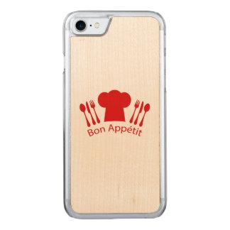 Bon Appetit Elegant Chef Hat Carved iPhone 8/7 Case