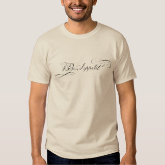 Bon Appetit Fancy Letters for Chef in Your Family Tshirt