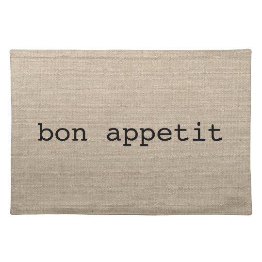 Bon Appetit French faux linen burlap rustic chic