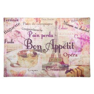 Bon Appétit French food words KITCHEN  art decor Placemats