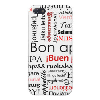 Bon appetit in many different languages typography iPhone 5/5S case