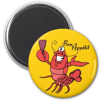 Bon Appetit Lobster Fridge Magnets