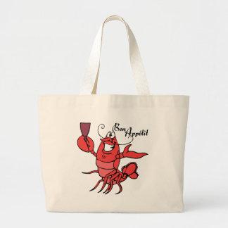 Bon Appetit Lobster Canvas Bags
