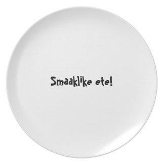 Bon appetit plate series - Afrikaans Smaaklike ete