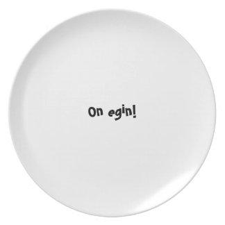 Bon appetit plate series - Basque - On egin