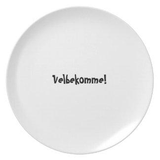 Bon appetit plate series - Danish - Velbekomme