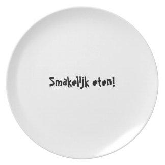 Bon appetit plate series - Dutch - Smakelijk eten