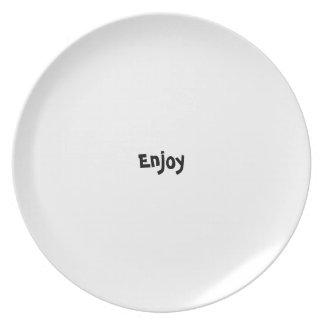 Bon appetit plate series - English - Enjoy