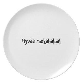 Bon appetit plate series Finnish Hyvää ruokahalua