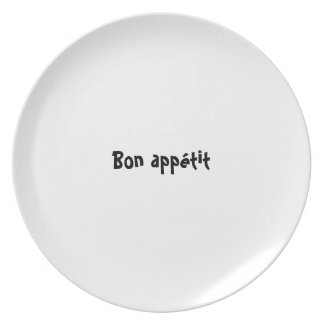 Bon appetit plate series - French Bon appétit