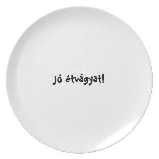 Bon appetit plate series Hungarian - Jó étvágyat