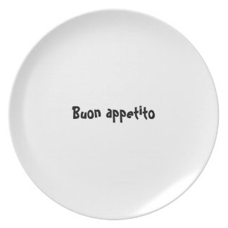 Bon appetit plate series - Italian - Buon appetito