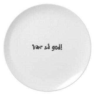 Bon appetit plate series - Norwegian - Vær så god