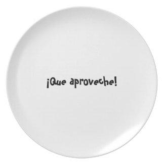 Bon appetit plate series - Spanish - Que aproveche