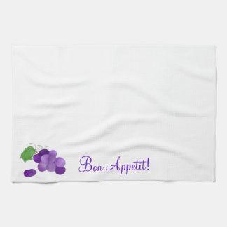 Bon Appetit Purple Grapes on a kitchen towel