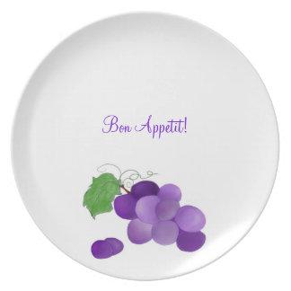 Bon Appetit Purple Grapes on a plate