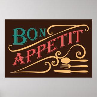 Bon Appetit quote design Poster