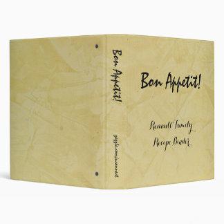 Bon Appetit Recipe Binder