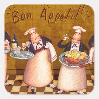 Bon Appétit Square Sticker