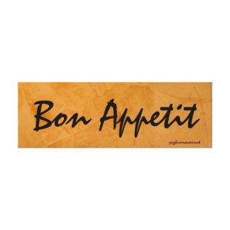 Bon Appetit Tuscan Orange Painting Canvas Print