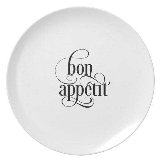 Bon Appetit Typography Plate
