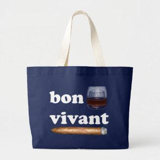 bon vivant Geniesser whisky Whiskey rum cigar Tote Bags