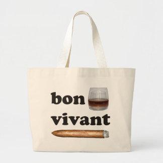 bon vivant Geniesser whisky Whiskey rum cigar Jumbo Tote Bag