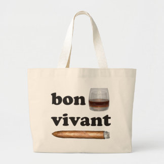 bon vivant Geniesser whisky Whiskey rum cigar Large Tote Bag