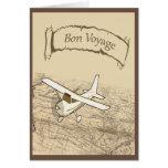 Bon Voyage Aeroplane Greeting Card