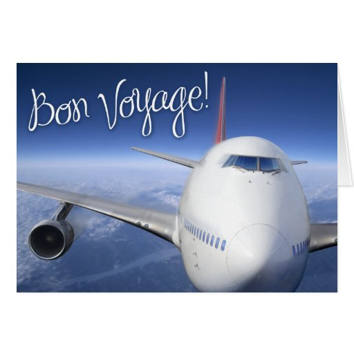 bon voyage! (airplane) greeting card