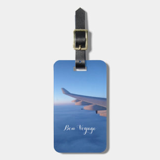 Bon Voyage Blue Sky Flight Luggage Tag