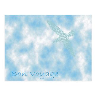 Bon Voyage Bluebirds Postcard