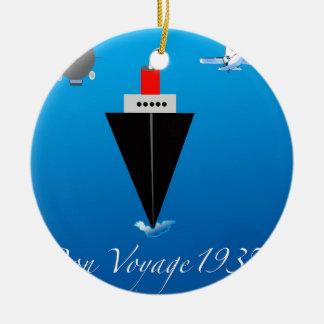 Bon Voyage Christmas Ornament